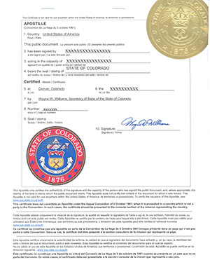colorado apostille, how to apostille documents in colorado