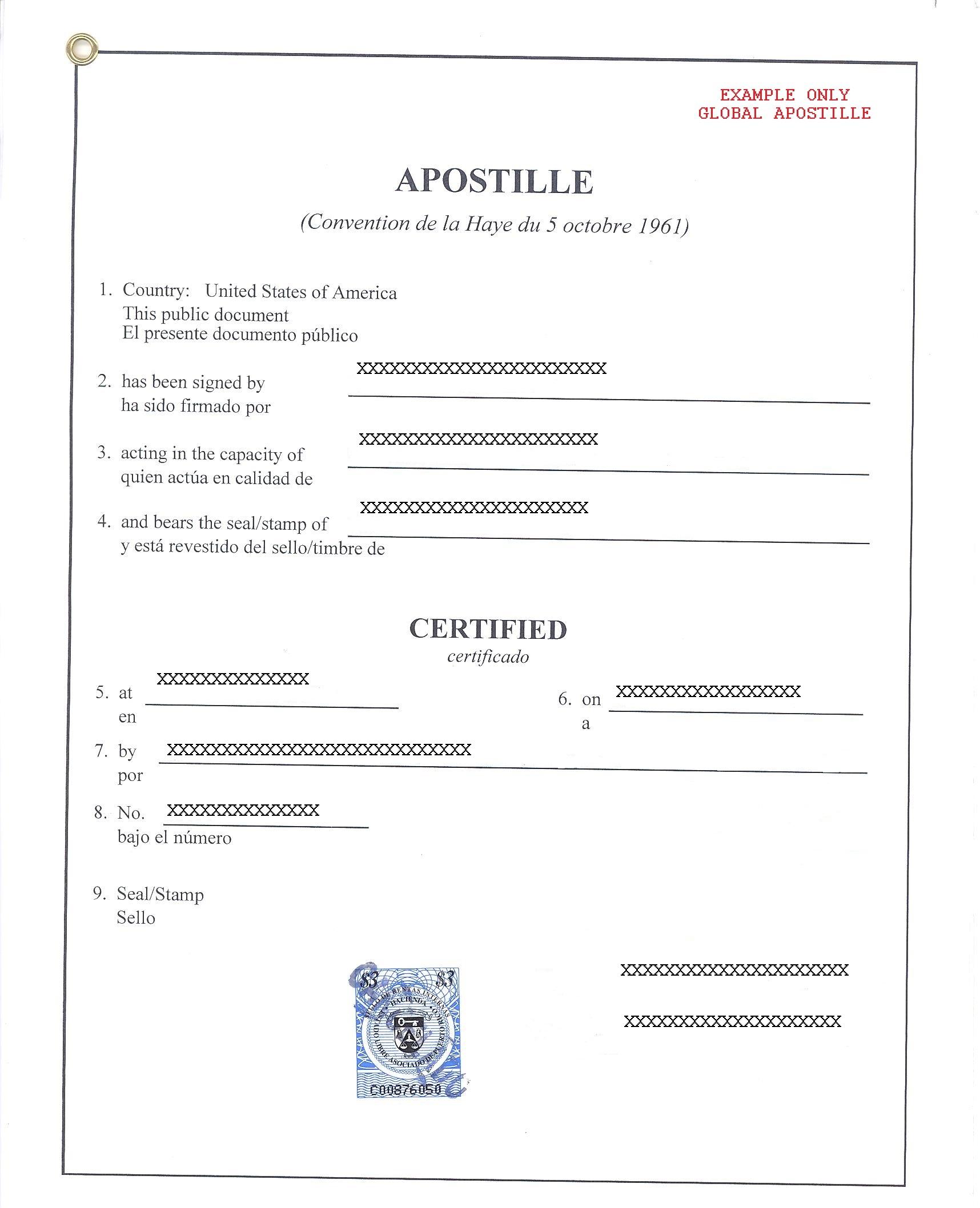 APOSTILLE PUERTO RICO, АПОСТИЛЬ В ПУЭРТО РИКО