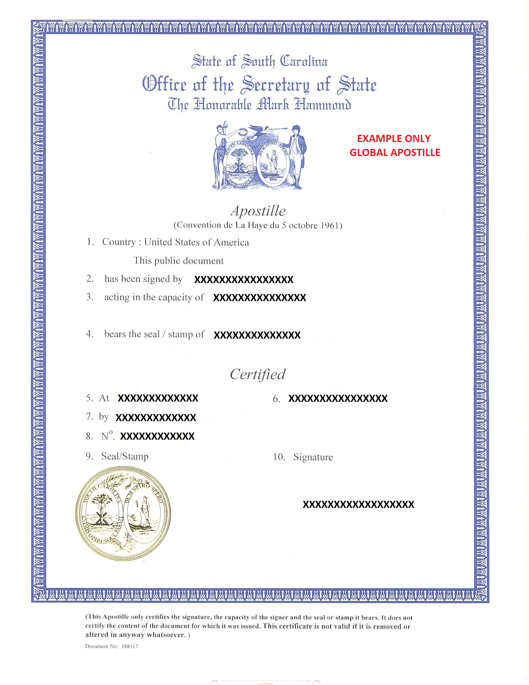 State of south carolina apostille how to get apostille in south south carolina xflitez Gallery