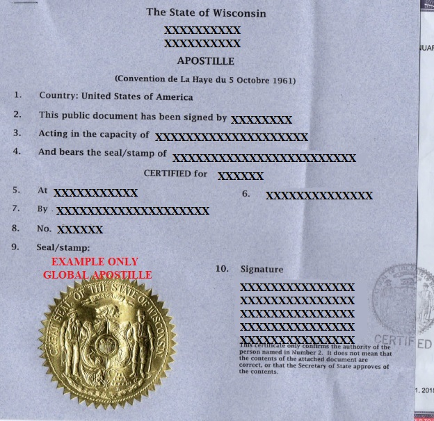 State Of Wisconsin Apostille How To Get Apostille In Wisconsin