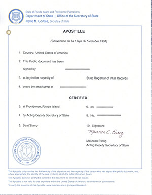 rhode island apostille, how to apostille document in rhode island