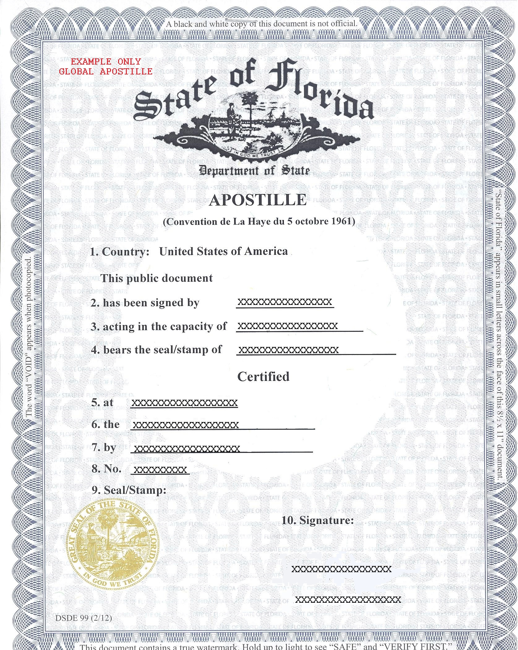 State of florida apostille how to get apostille in florida florida aiddatafo Images